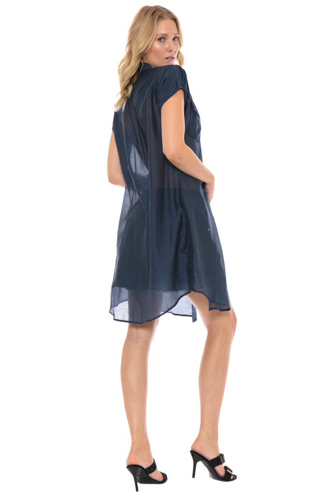 MILITARY SLEEVELESS COVER UP - INDIGO - Da-Nang