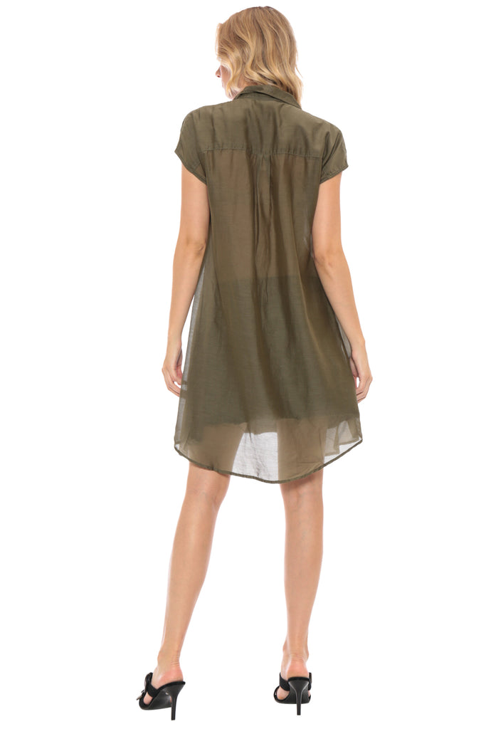 MILITARY SLEEVELESS COVER UP - OLIVE - Da-Nang