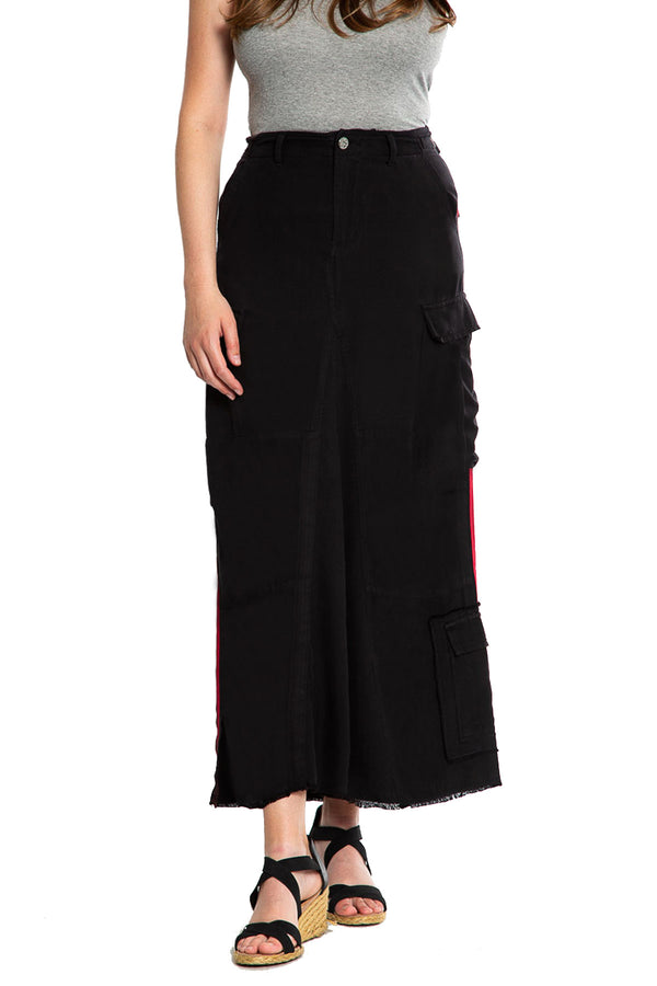 ORIGINAL MILITARY LONG SKIRT - CAVIAR