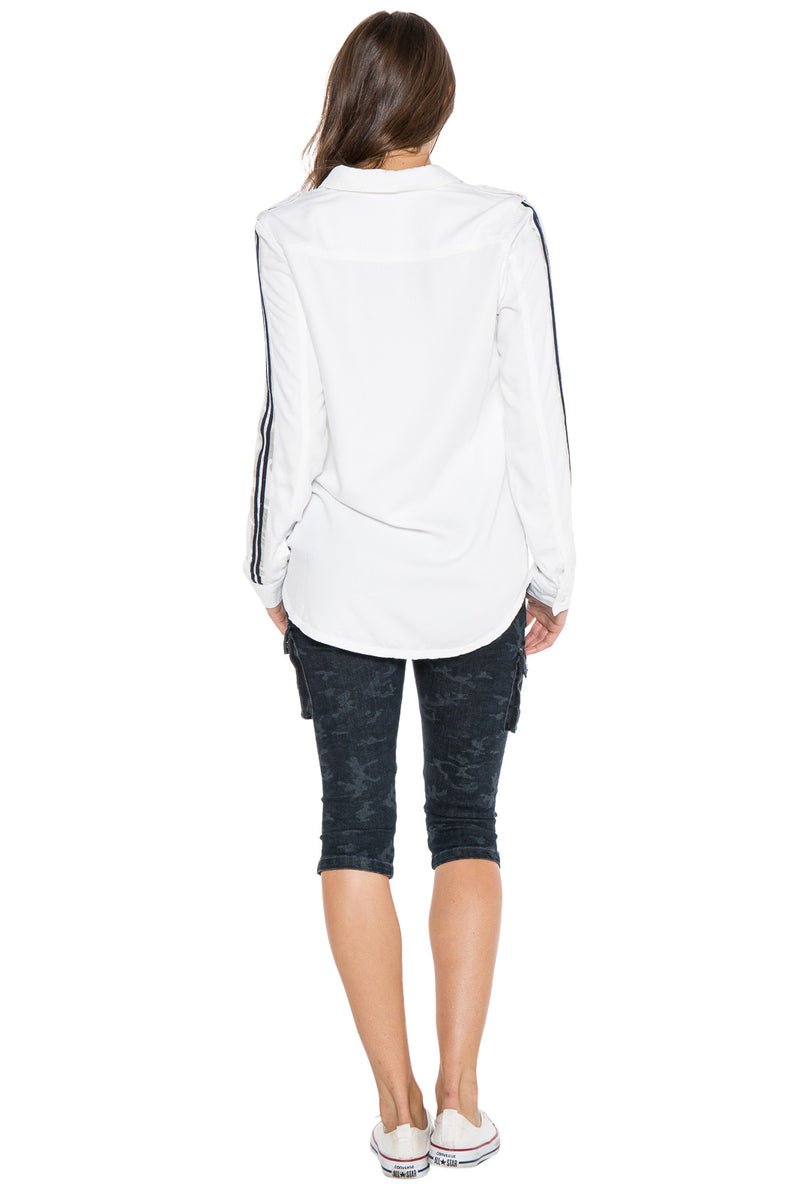MILITARY POCKET LONG SLEEVE SHIRT - WHITE - Da-Nang