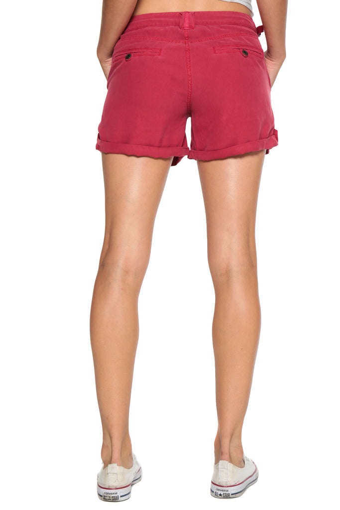 VINTAGE ROLLED SHORT - RED - Da-Nang