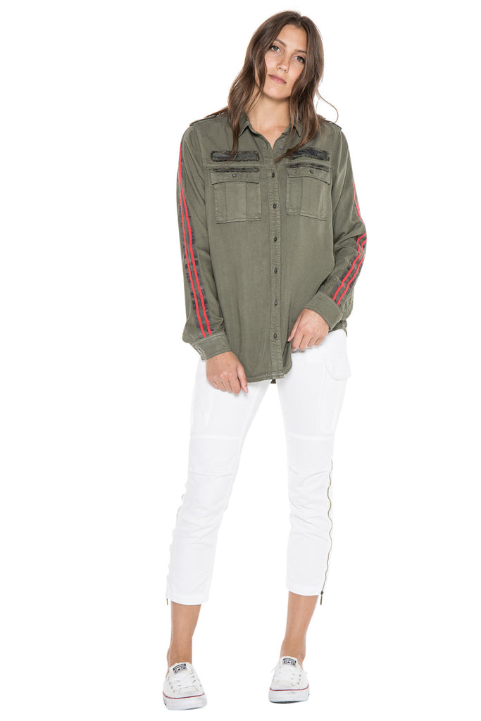 MILITARY LONG SLEEVE SHIRT - CLOVER - Da-Nang