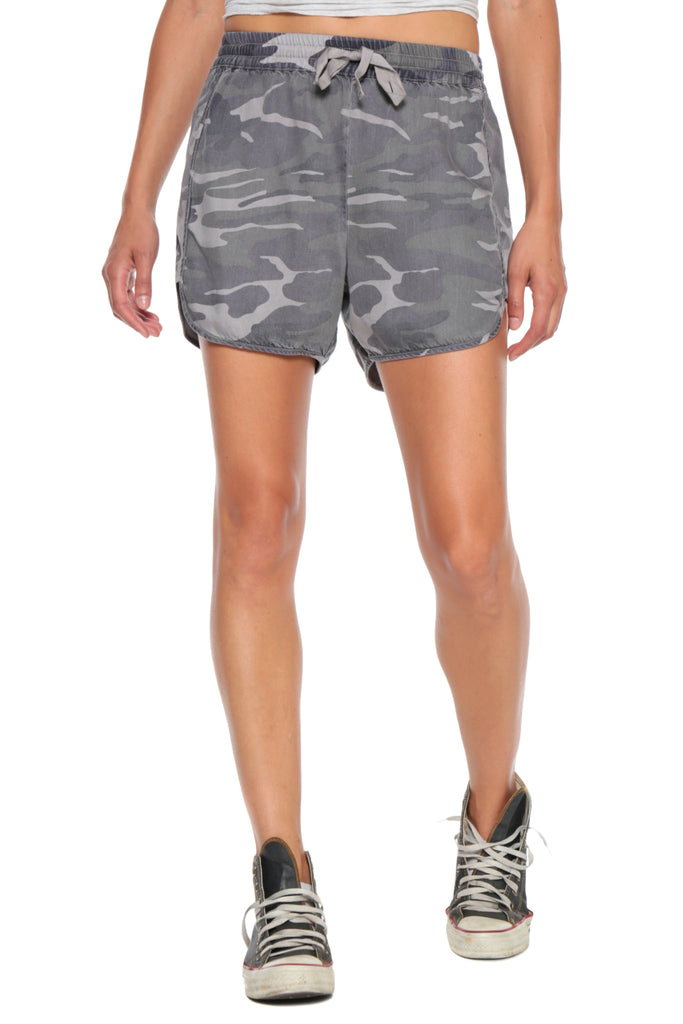 MILITARY BEACH SHORT - GREY CAMO - Da-Nang