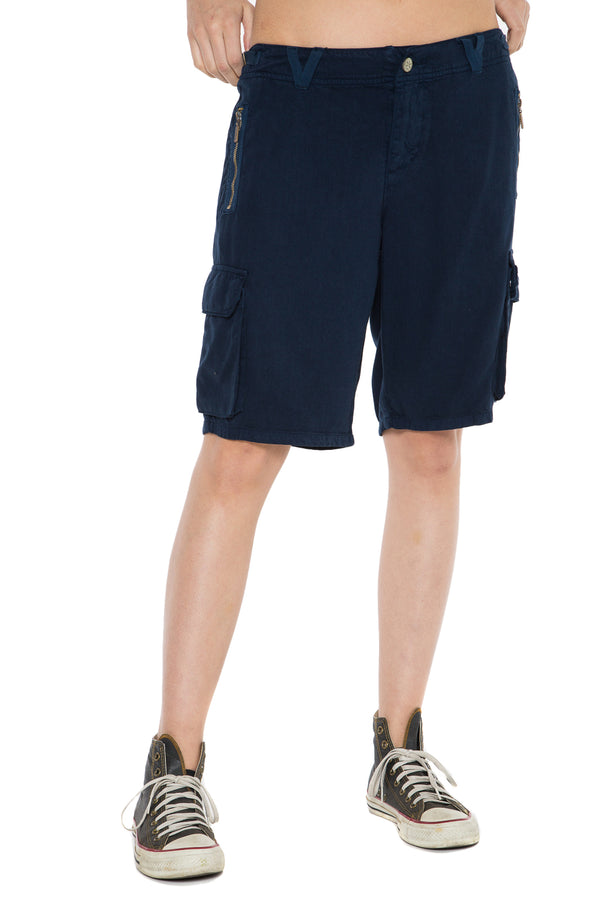 EASY FIT BERMUDA SHORT - NAVY - Da-Nang