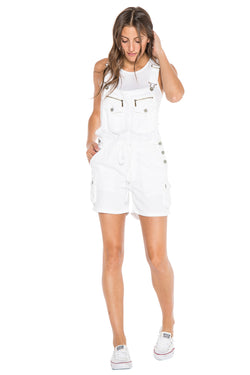 OVERALL ROLLED UP SHORT - WHITE - Da-Nang