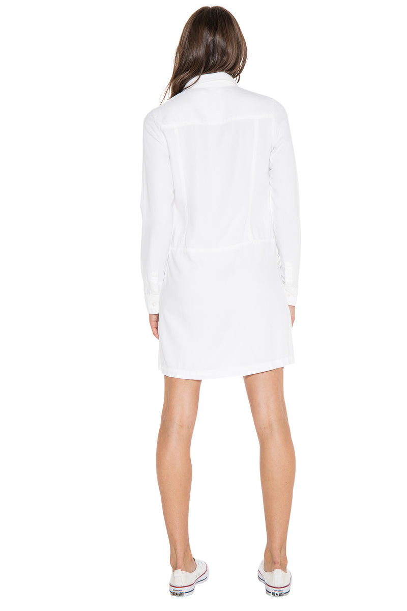 LACE UP DRESS - WHITE - Da-Nang