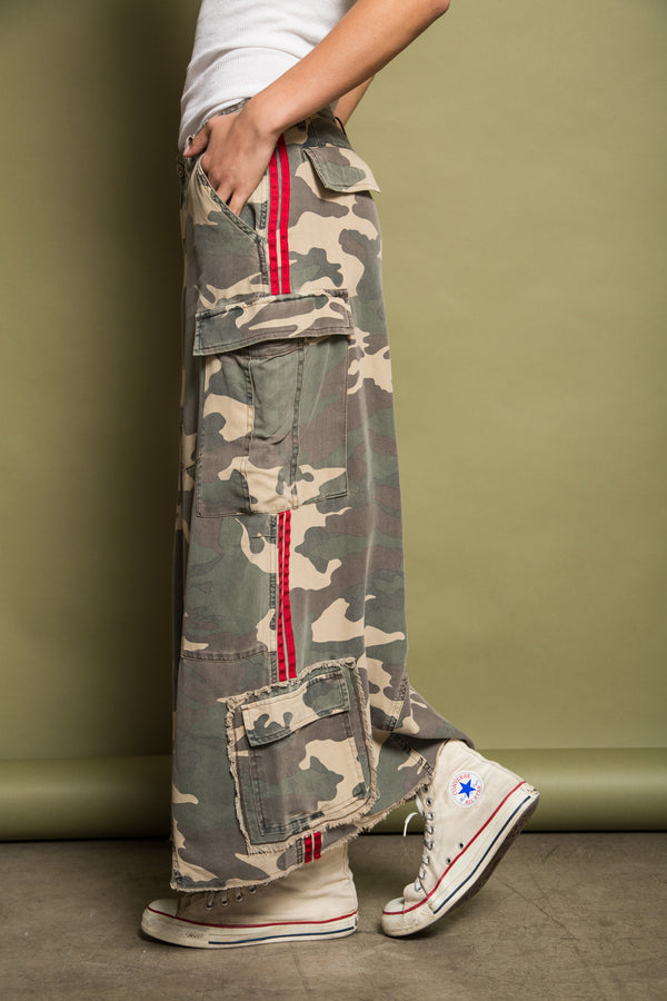 ORIGINAL MILITARY LONG SKIRT - ARMY CAMO