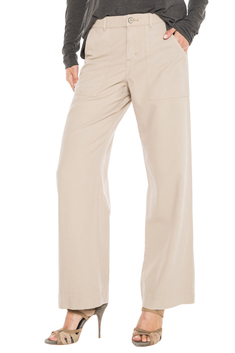 WIDE LEG PANT - OXFORD TAN - Da-Nang