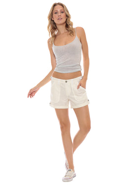 VINTAGE ROLLED SHORT - WHITE - Da-Nang