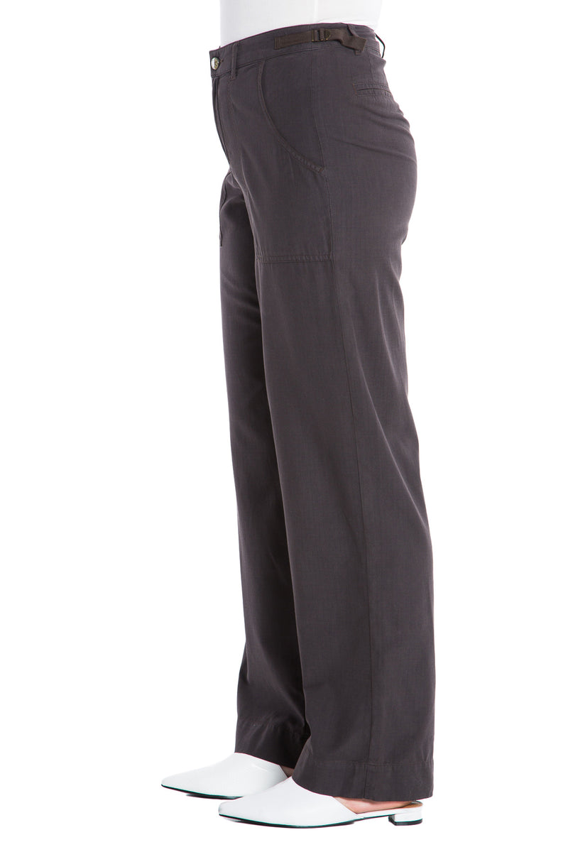 WIDE LEG PANT - LICORICE - Da-Nang