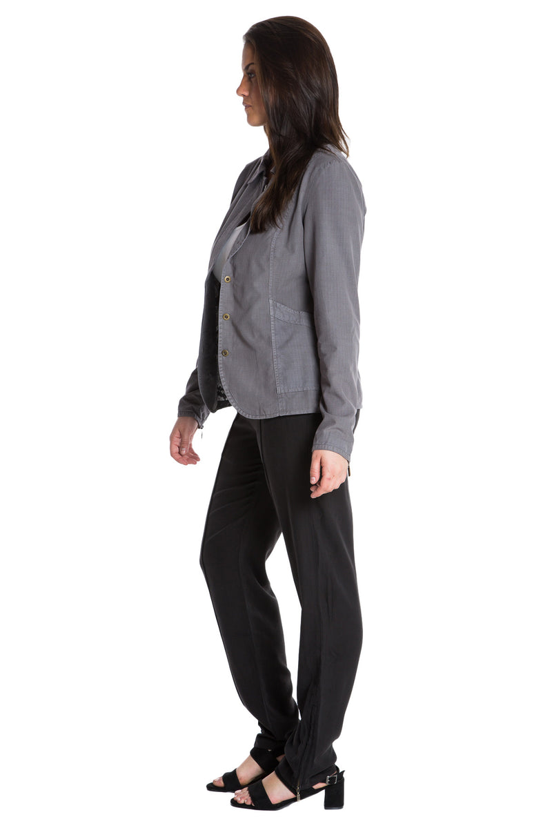 TAPERED JACKET - CHARCOAL GREY - Da-Nang