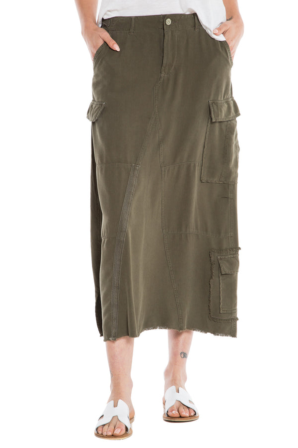 ORIGINAL MILITARY LONG SKIRT - OLIVE - Da-Nang