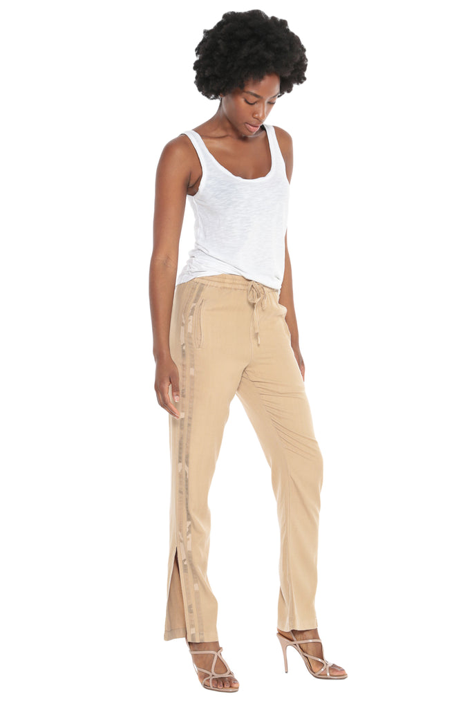 MILITARY STRIPED TRACK PANT - WARM SAND - Da-Nang
