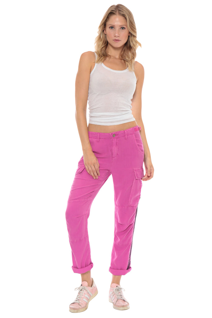ROLLED UP CARGO PANT - FUCHSIA - Da-Nang