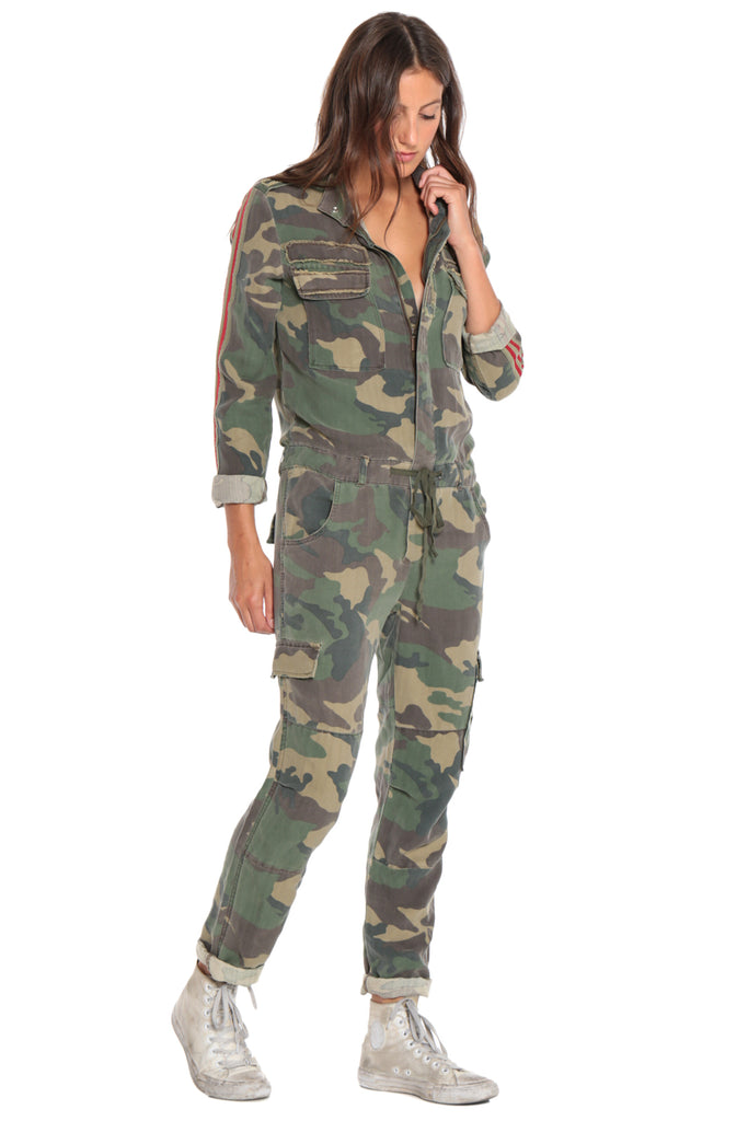 THE WEEKENDER JUMPSUIT - ARMY CAMO - Da-Nang