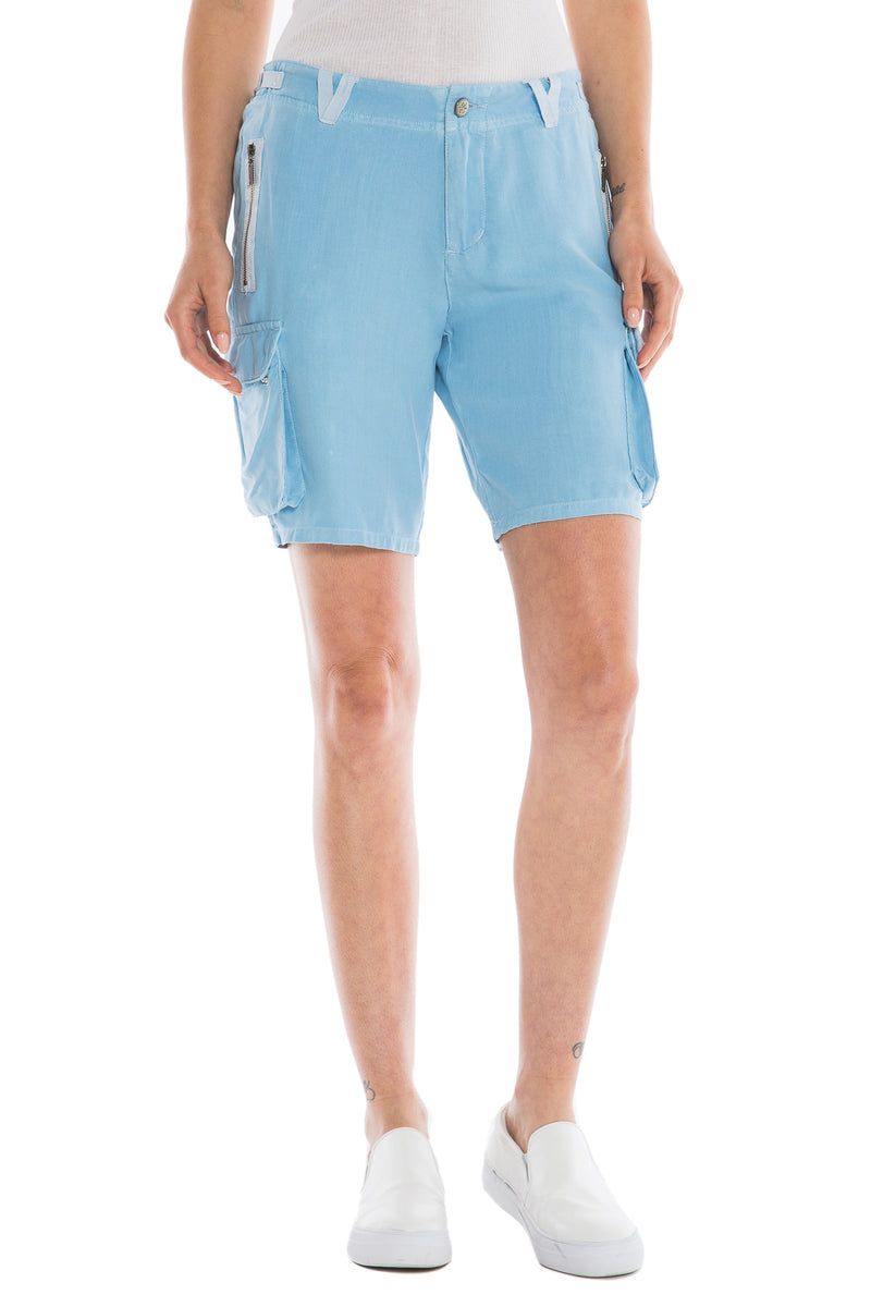 EASY FIT BERMUDA - BLUE - Da-Nang