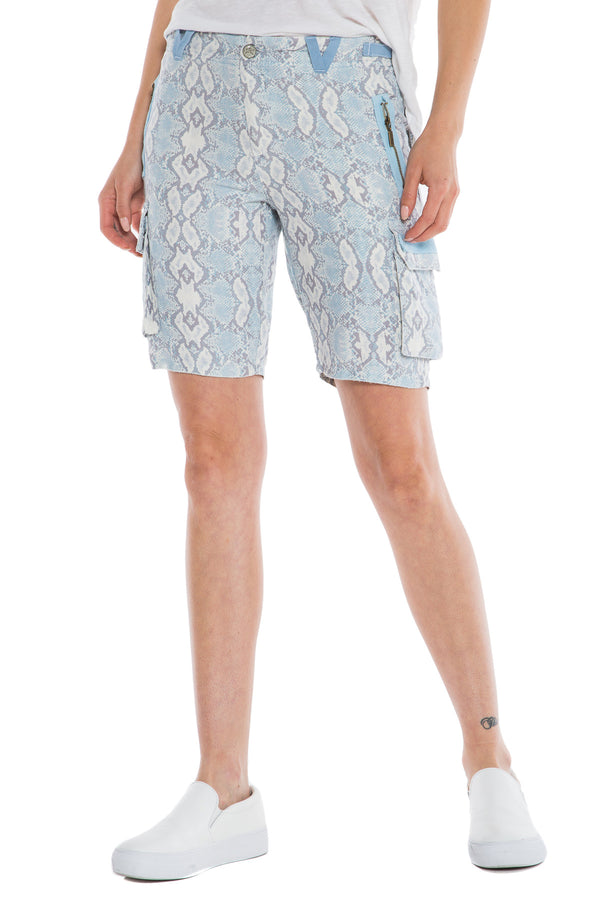 "SKG9304 THE EASTY FIT BERMUDA RISE 10"" - 11"" INSEAM BLUE SNAKE - Da-Nang"