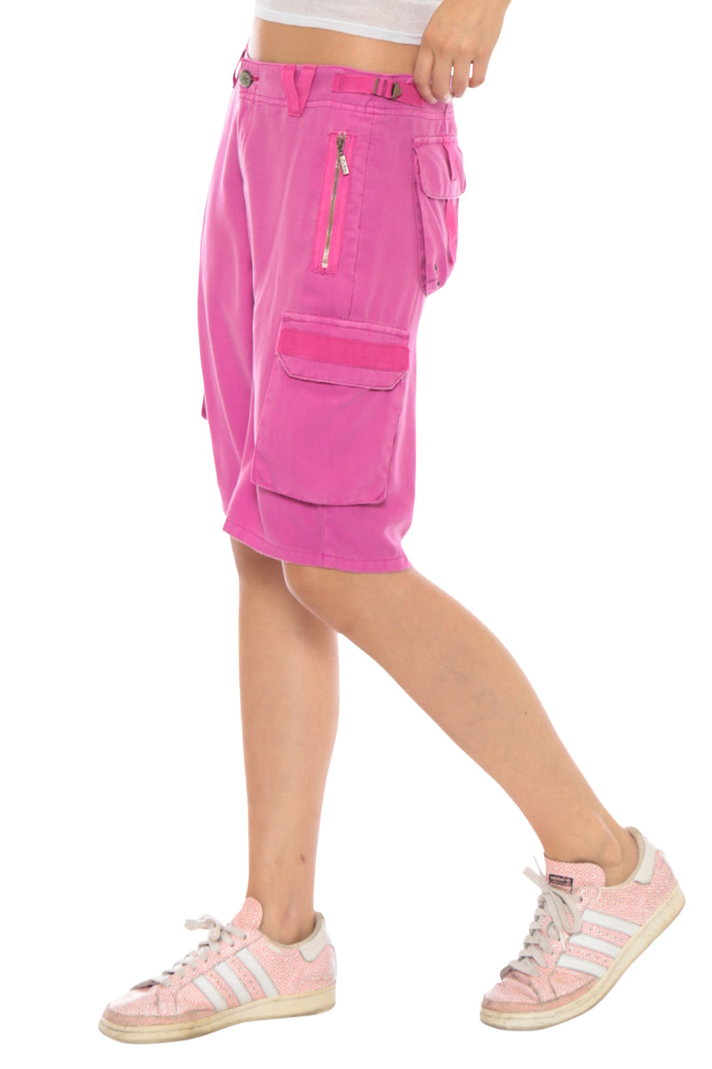 EASY FIT BERMUDA SHORT - FUCHSIA - Da-Nang