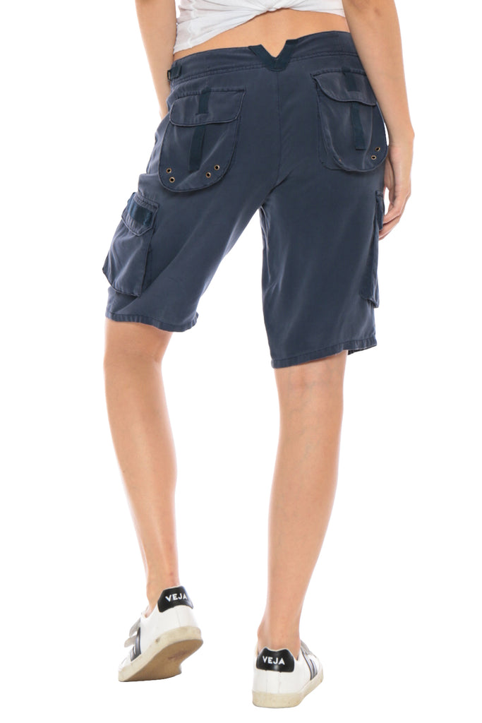 EASTY FIT BERMUDA SHORT - INDIGO - Da-Nang