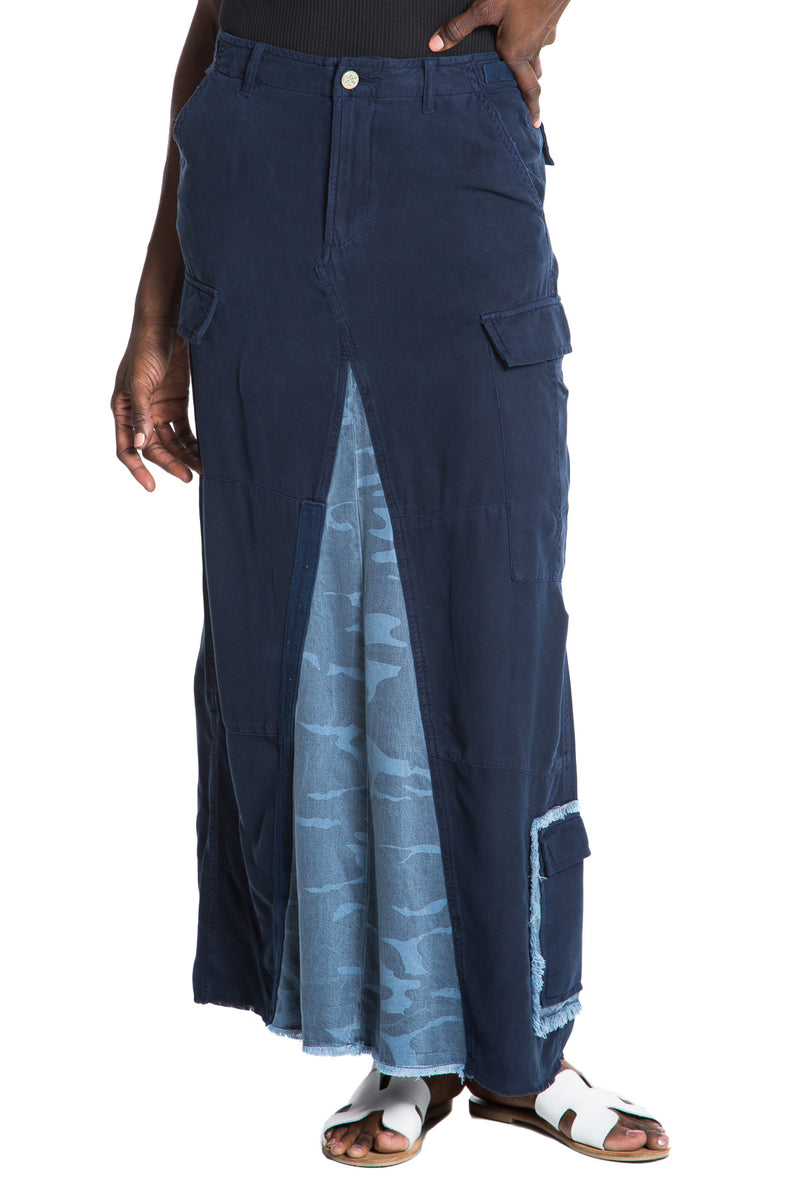 ORIGINAL MILITARY LONG SKIRT - NAVY - Da-Nang