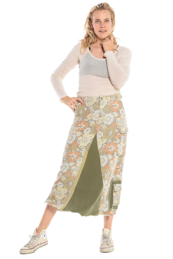 ORIGINAL MILITARY LONG SKIRT - FLOWER POWER - Da-Nang
