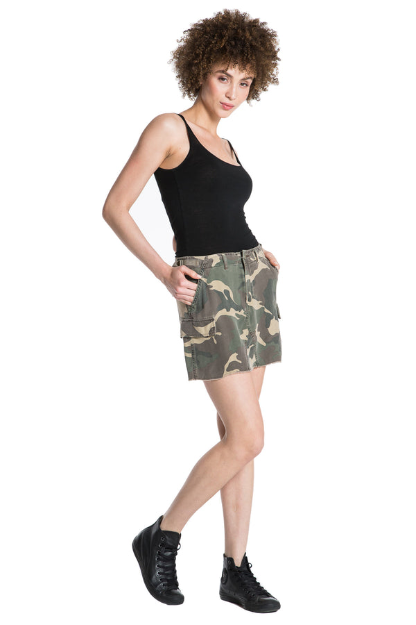MILITARY SHORT SKIRT - ARMY CAMO - Da-Nang