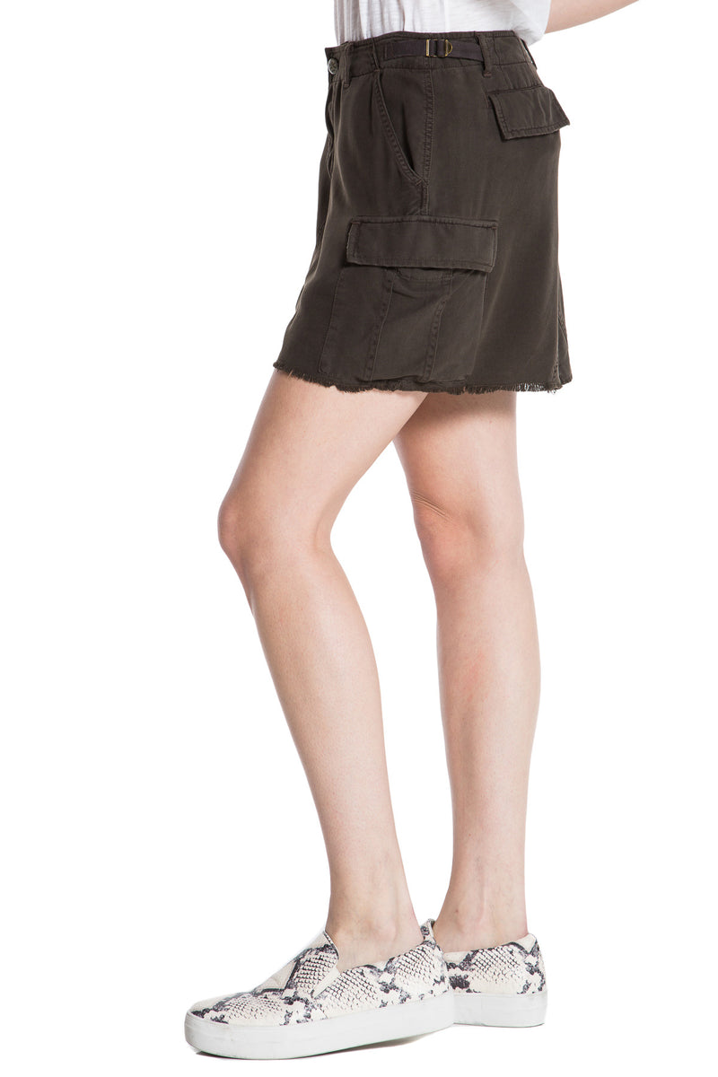 MILITARY SHORT SKIRT - BLACK OLIVE - Da-Nang