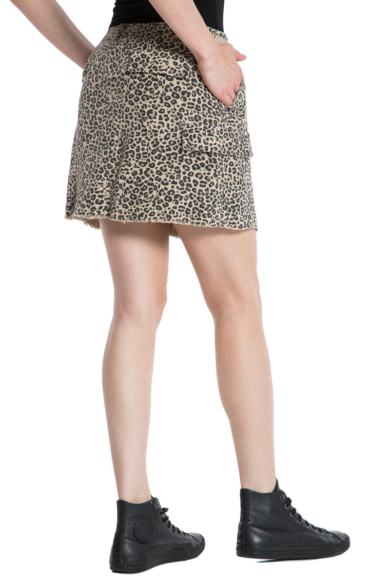 MILITARY SHORT SKIRT- CAMO LEOPARD - Da-Nang