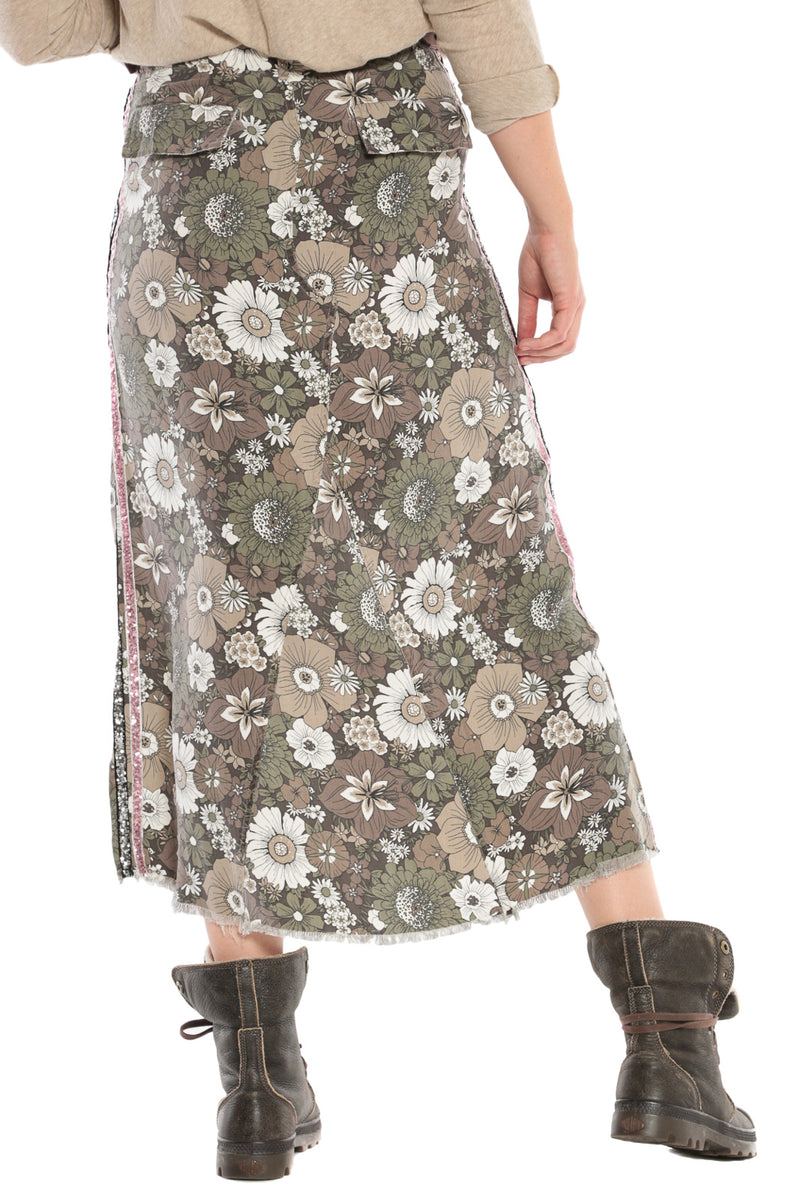 MAXI SKIRT - FIRE FLOWER - Da-Nang
