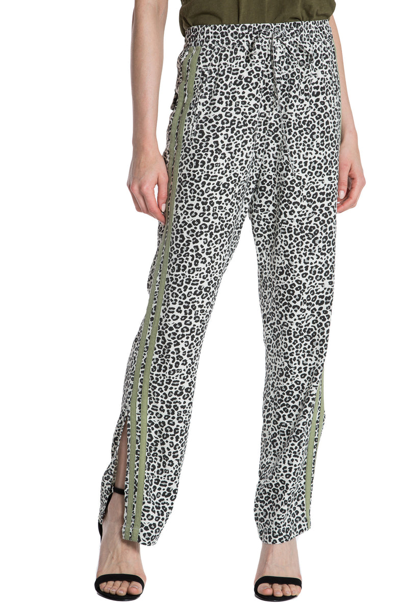 MILITARY STRIPED TRACKPANT- LIGHT GREY LEOPARD - Da-Nang