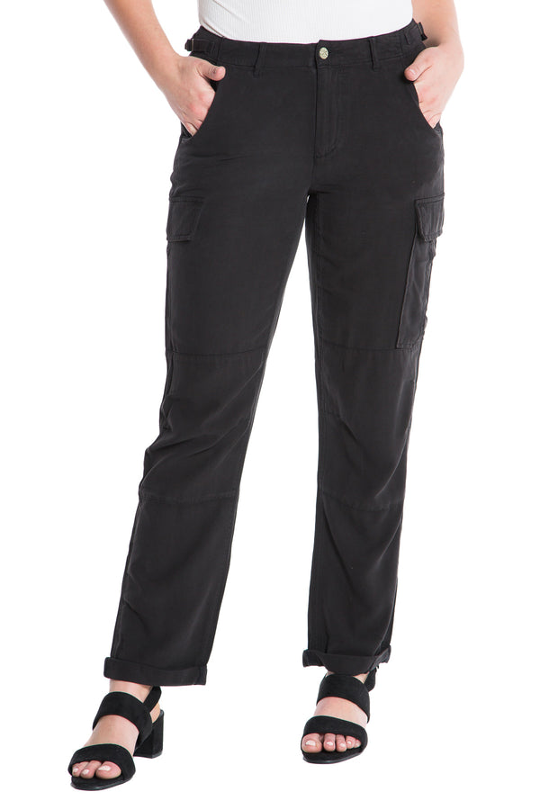 ROLLED UP CARGO PANT - CAVIAR - Da-Nang