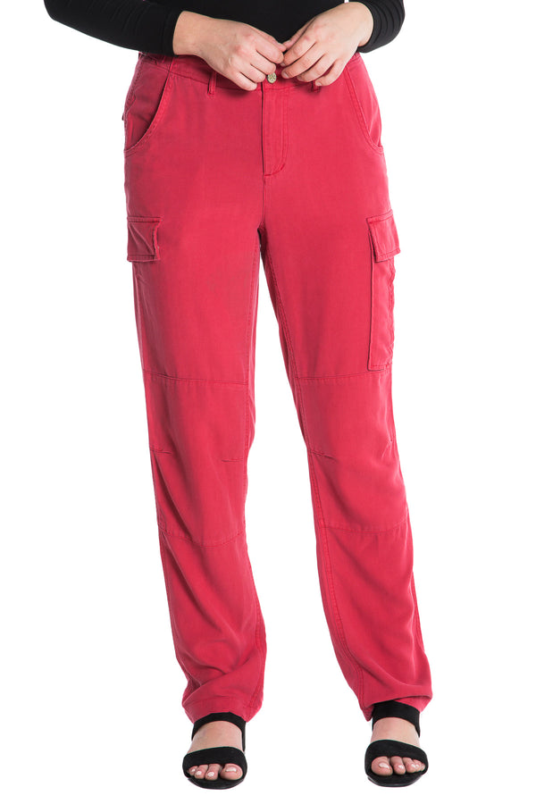 ROLLED UP CARGO PANT - RED - Da-Nang
