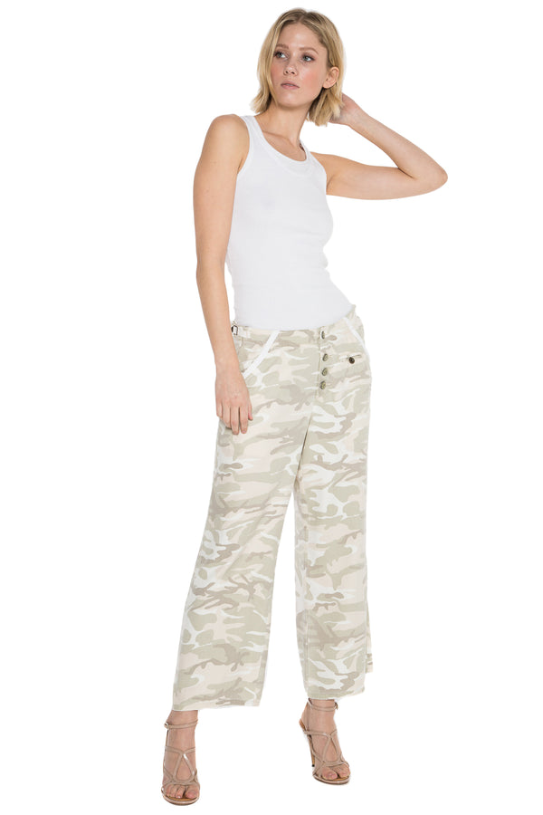 WIDE LEG PANT - CLOUD CAMO - Da-Nang