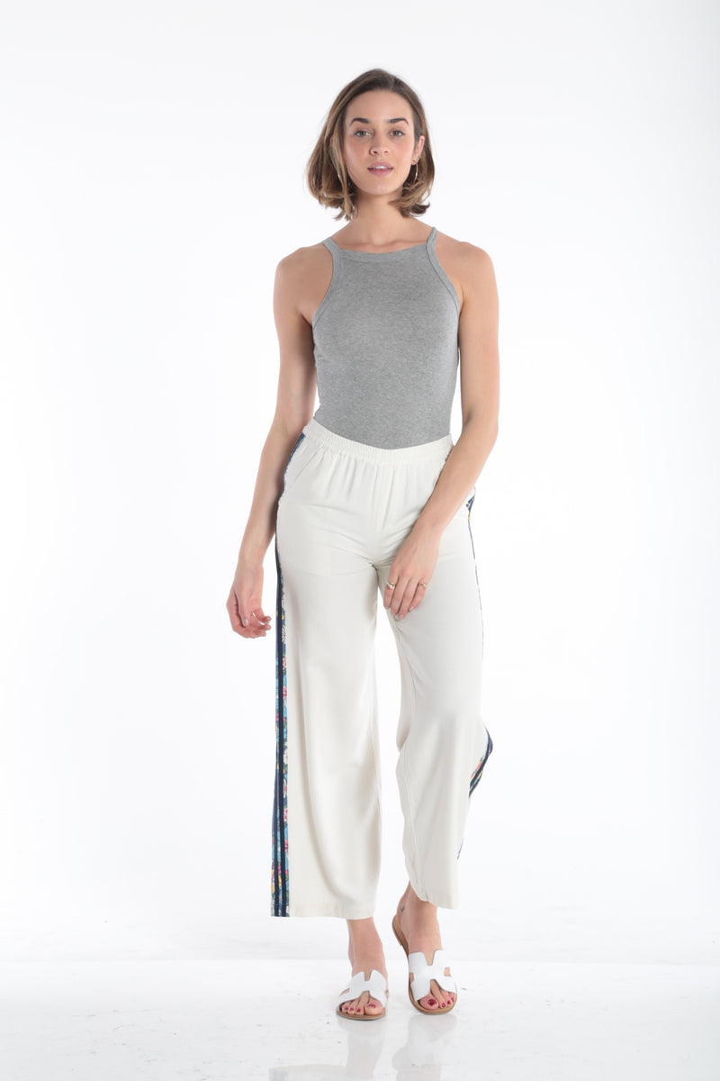THE LOLITA PANTS W/ STRIPES WHITE