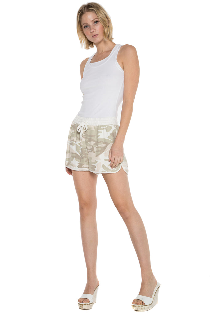 WASHED SILK SHORT - CLOUD CAMO - Da-Nang