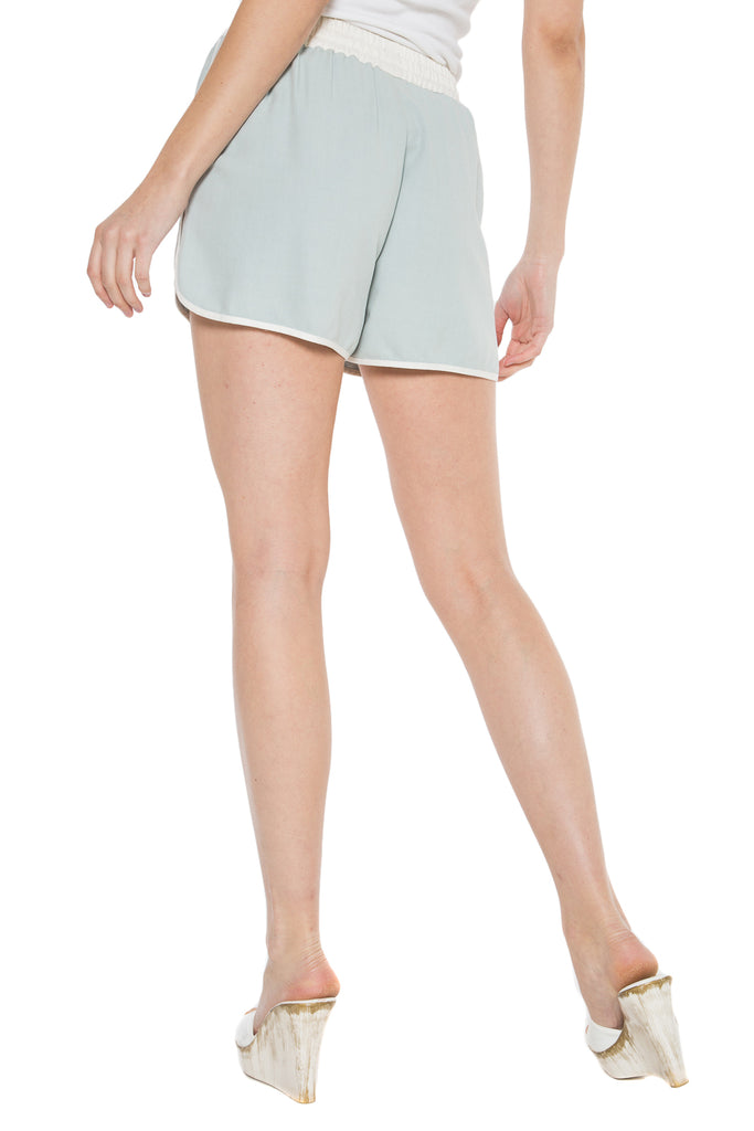 WASHED SILK SHORT - PEARL - Da-Nang
