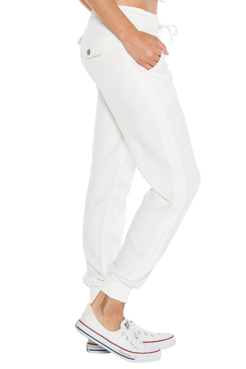 STRIPED JOGGER - WHITE - Da-Nang