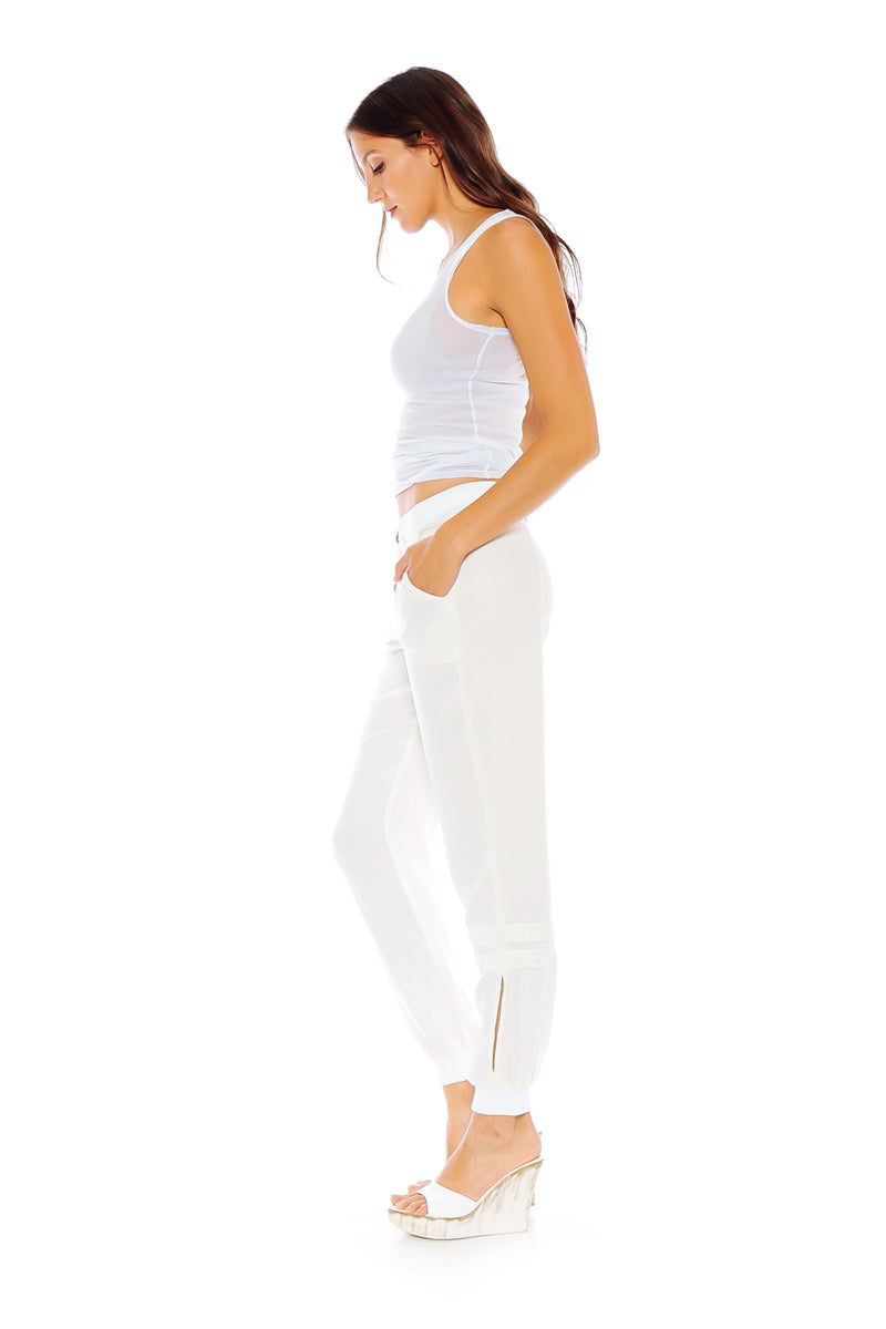 THE UTILITY LOUNGE JOGGER - WHITE - Da-Nang