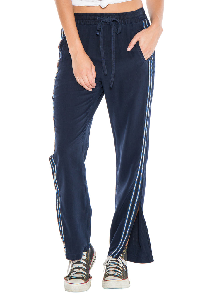 MILITARY STRIPED TRACK PANT - NAVY - Da-Nang
