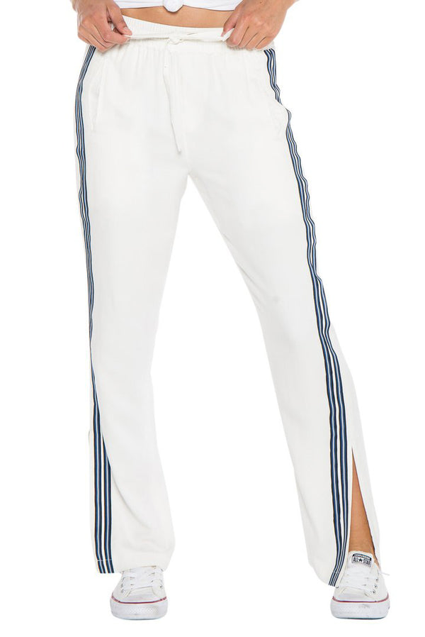 MILITARY STRIPED TRACK PANT - WHITE - Da-Nang
