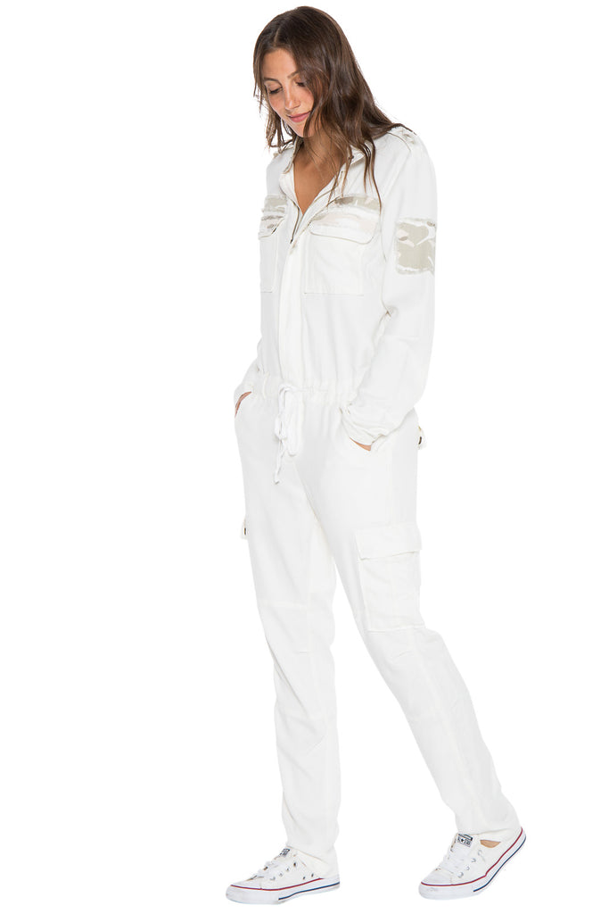 THE WEEKENDER JUMPSUIT - WHITE