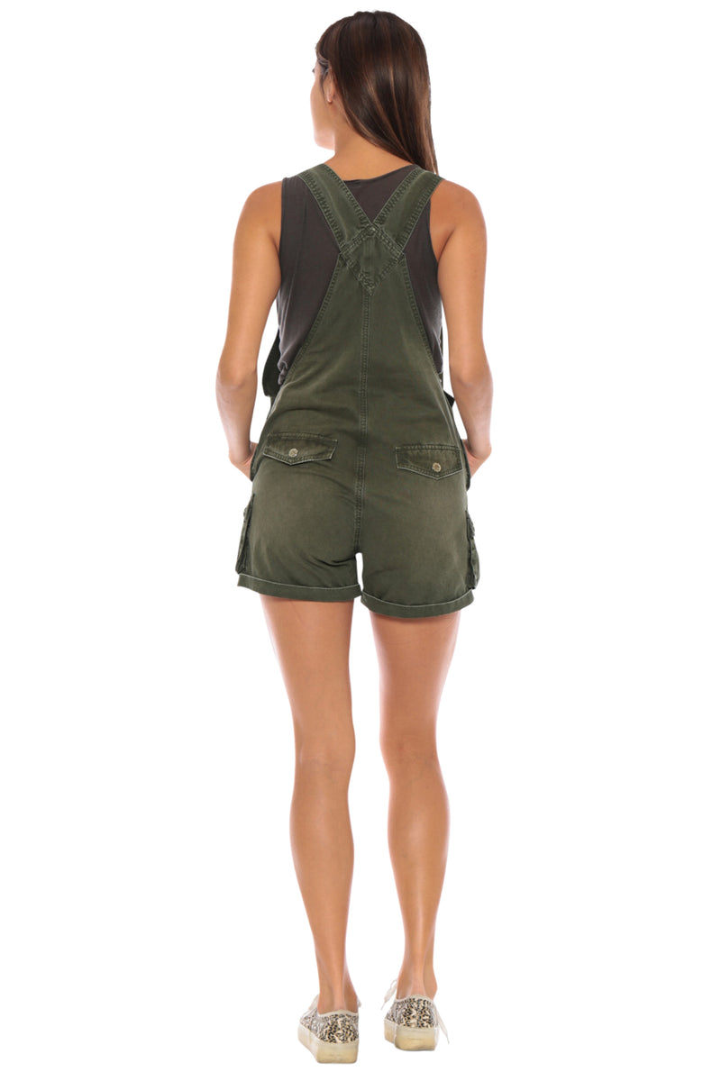 OVERALL ROLLED UP SHORT - OLIVE - Da-Nang
