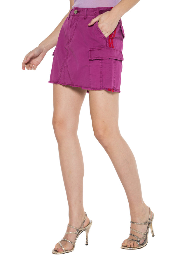 MILITARY SHORT SKIRT - FUCHSIA - Da-Nang