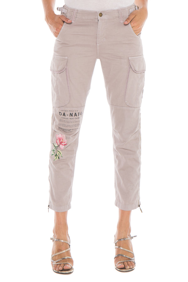 EMBELLISHED EASY FIT CARGO PANT - ROCK - Da-Nang