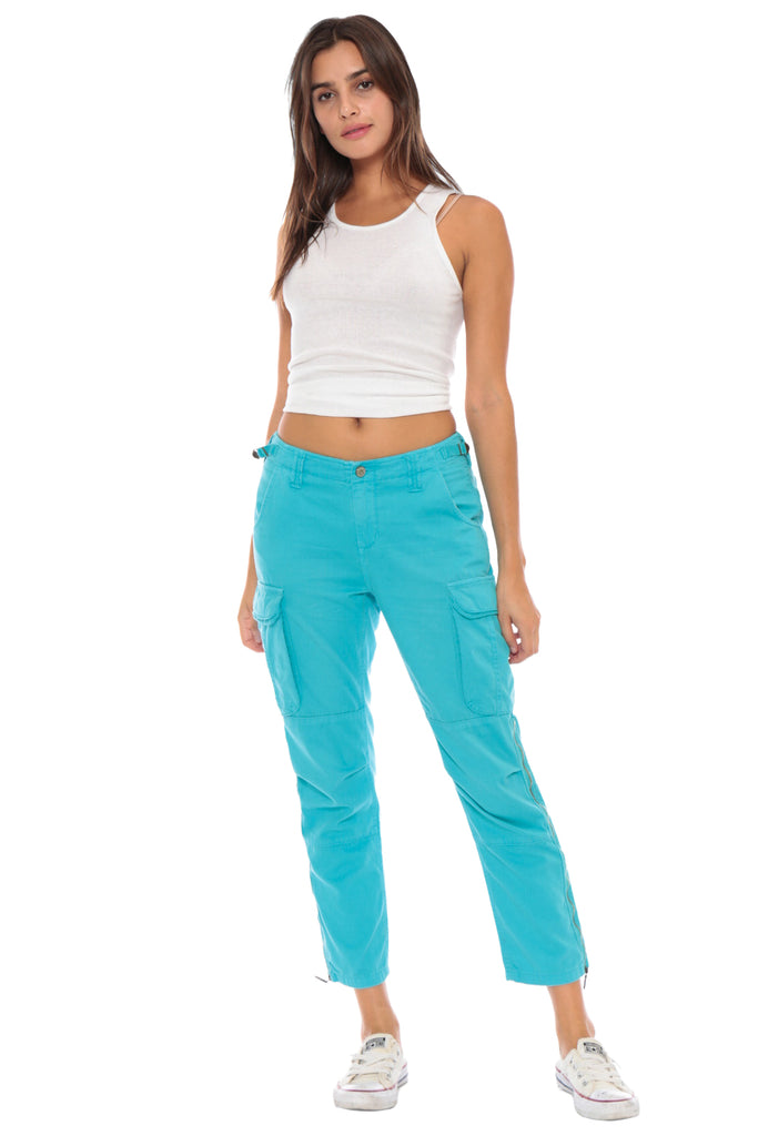 EASY FIT CARGO PANT - TURQUOISE - Da-Nang