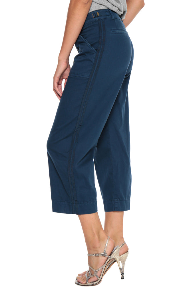 WIDE LEG PANT - AIRFORCE BLUE - Da-Nang