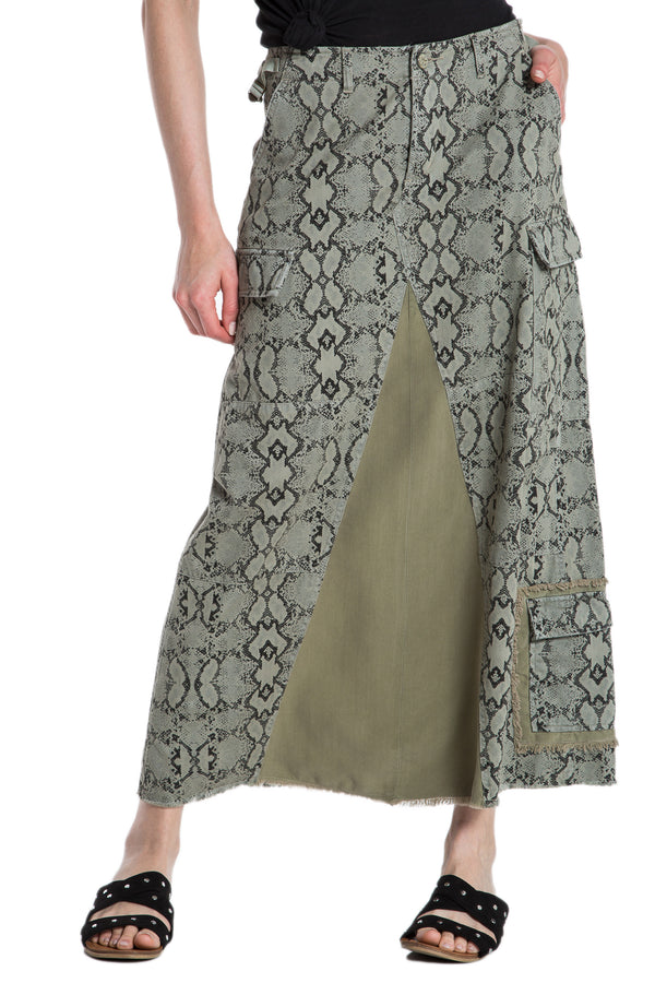 ORIGINAL MILITARY LONG SKIRT - CAMO SNAKE - Da-Nang