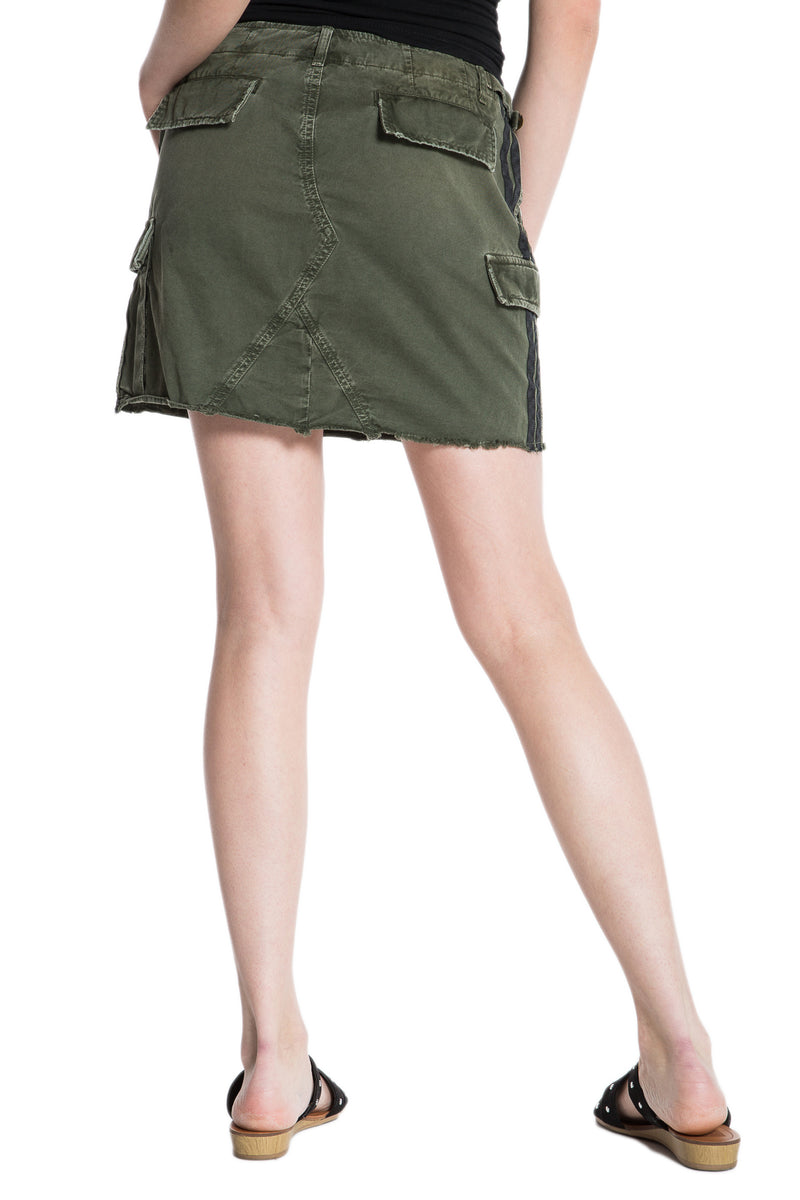 MILITARY SHORT SKIRT - OLIVE - Da-Nang
