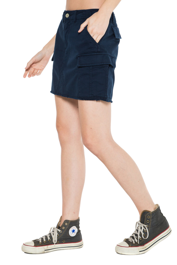 MILITARY SHORT SKIRT - NAVY - Da-Nang