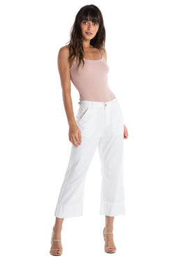 TWILL CULOTTE - OPTICAL WHITE - Da-Nang